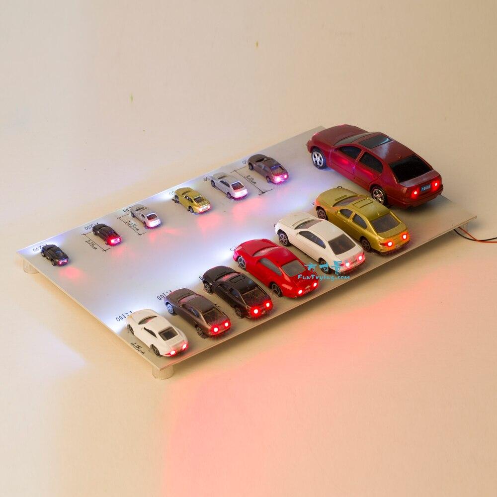 20 Pcs Plastic Model Cars With 12V LED Lights/Railway/Railroad/Train Layout