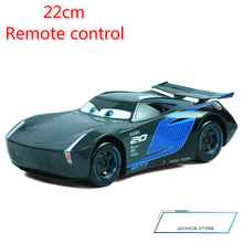 Big Size 22cm Disney Pixar Cars 3 Remote Control Storm Jackson Lighting McQueen Cruz Ramirez Metal Car Toys Boys Birthdays Gift