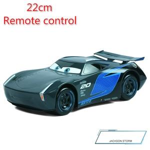 Image 5 - Big Size 22cm Disney Pixar Cars 3 Remote Control Storm Jackson Lighting McQueen Cruz Ramirez Metal Car Toys Boys Birthdays Gift