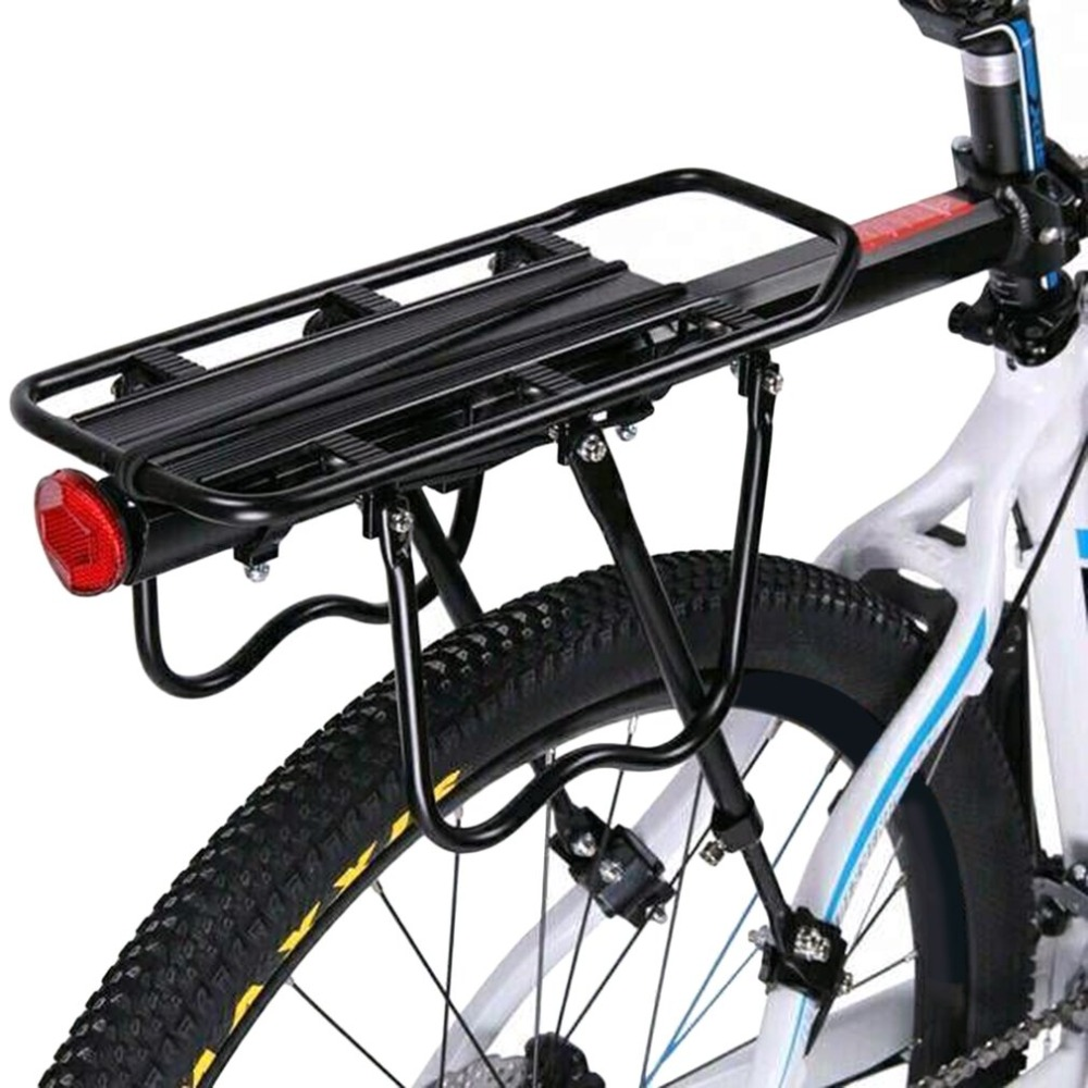 Outdoor Bicycle Rear Seat Rack Adjustable Luggage Carrier Bike Wheel Reflector