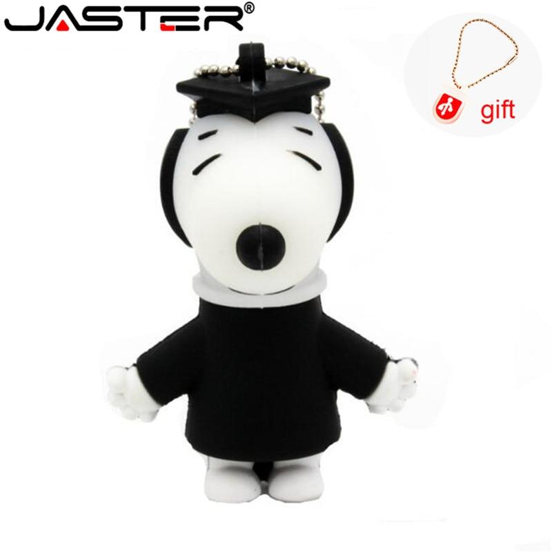 JASTER Lovely Dog Usb Flash Drive Cute Cartoon Pendrive 8gb 16gb 32gb Mini Memory Stick USB 2.0 Giftsfashion Pendant