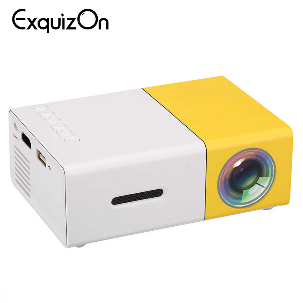 YG300 LCD Proyektor Mini Home Theater 320X240 Media Projector Mendukung 1080P AV USB Kartu SD HDMI Antarmuka saku Portabel Beamer