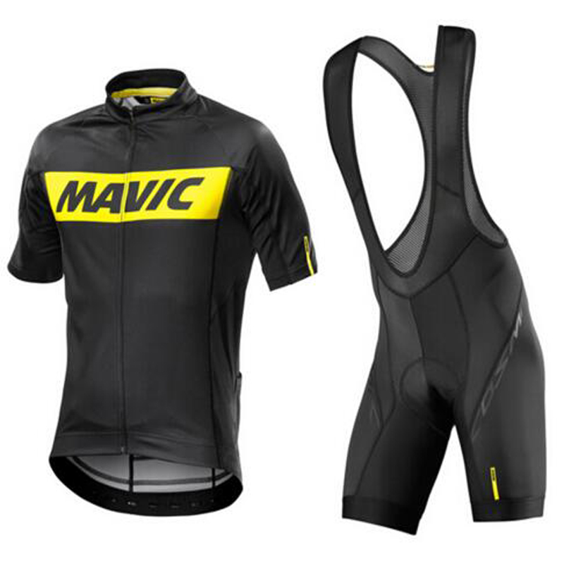 2017 Pro Summer Cool New Men Cycling Set Short Sleeve Sportswear Polyester MTB Bicycle Cycling Clothing Ropa Ciclismo Black