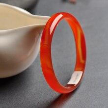 С натуральным красным агатом браслет красный браслет с халцедоном браслет с нефритом декоративные браслет с узором Ювелирное Украшение из нефрита