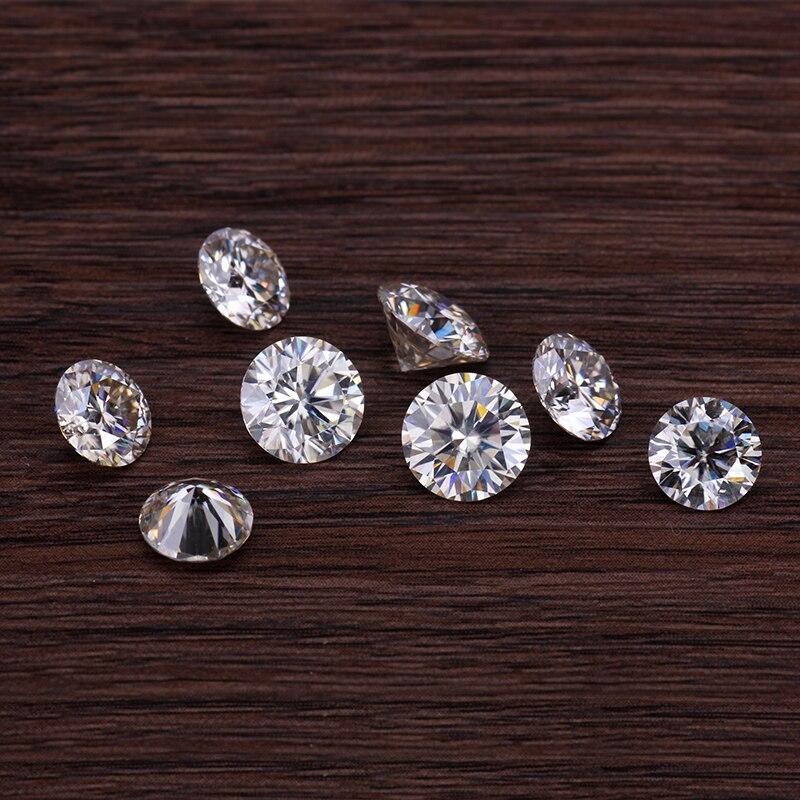 Starszuan 3 шт 5 мм и 1 шт 6,5 мм GH круглые блестящие огранки свободные моисаниты камни тест положительные ювелирные изделия драгоценные камни для и