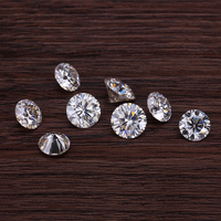 Starszuan 3pcs 5mm and 1pcs 6.5mmGH round brilliant cut loose moissanites stones test positive jewelry gems for jewelry making