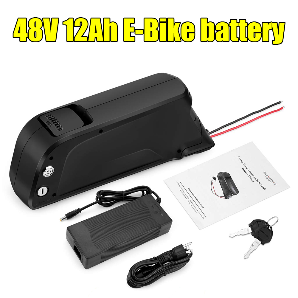 Free Shipping Rechargeable 48V 12Ah down tube Electric bike battery 48v 11.6Ah ebike batteries with 54.6V 2A charger for 850w 1