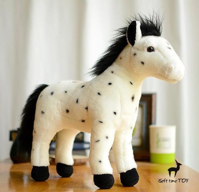 Плюшена голяма играчка Пълнени животни Пъстър конска кукла Kawaii Toys Детска декорация на дома Високо качество