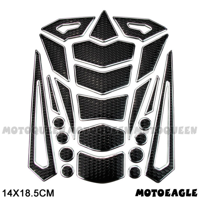 Motorcycle Gas Fuel Oil Tank Pad Protector Decals Sticker