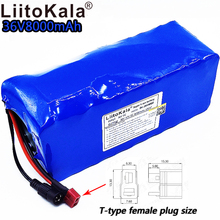 LiitoKala 36v8ah литий-ионный аккумулятор для электровелосипеда 18650 42V 8000mAh 10S4P большой емкости bms 500W перегрузки по току