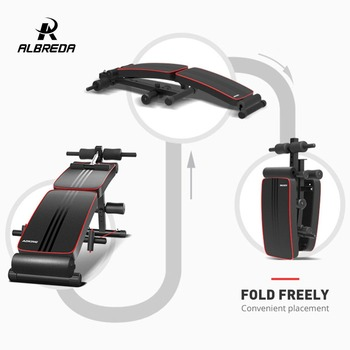 ALBREDA Fitness Portable Sit-up Bench Machine For Home fitness Board abdominal Exerciser Equipments Gym Training muscles FE341