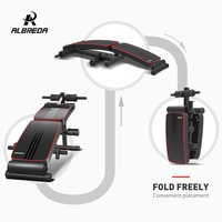 ALBREDA Fitness Portable Sit up Bench Machine For Home fitness Board abdominal Exerciser Equipments Gym Training muscles FE341