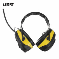 LEORY NRR 28dB Electronic Hearing Protector 3 5mm Connector MP3 AM FM Radio Headphone Headset Electronic