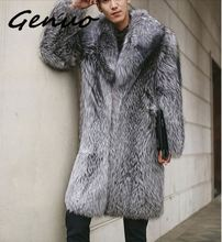 New specials imitation fur coat Fox hair long one body mens European and American large code S-6XL