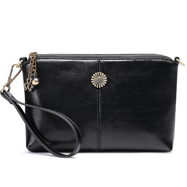 High Quality Leather Shoulder Bags For Women 2018 New Handbags Vintage Lady Crossbody Bag Casual Message Bags Wallet Clutch