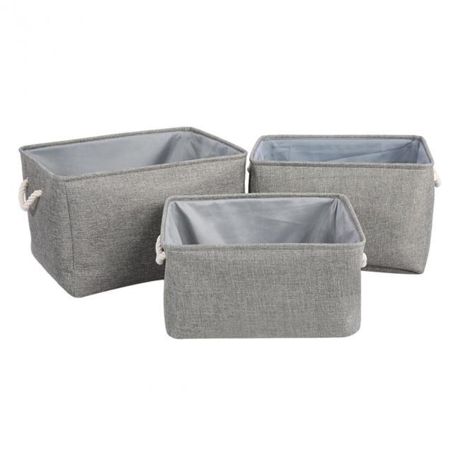 1Pc Linen Canvas Storage Case Clothes Sundries Cube Storage Box Bin Basket  Container New Canvas Storage