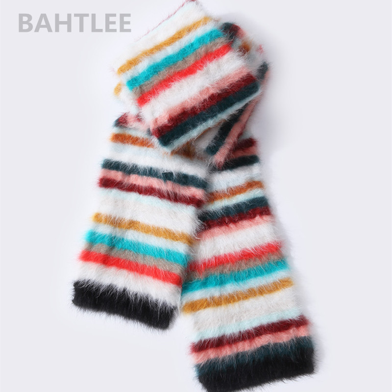 BAHTLEE Winter Women's Super Long Irdescence Scarf Angola Knitting Scarf Keep Warm Fashion Brand Style Perfect Neutral