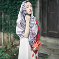 The new European style retro pop printed cotton scarves Bana Variety female scarf shawl