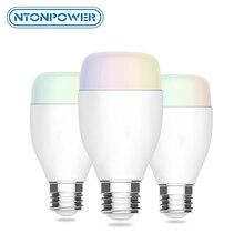 لمبة LED ذكية تعمل بالواي فاي من NTONPOWER لمبة إضاءة قابلة للتعتيم مناسبة للمنزل لمبة لمبات LED متوافقة مع اليكسا ومساعد جوجل BTZ1