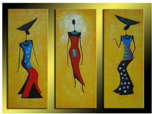 MODERN ABSTRACT Home WALL ART OIL PAINTING ON CANVAS 3P Figure painting shipping no framed art deco modern abstract wall art painting on canvas no framed with the roll film d10 19