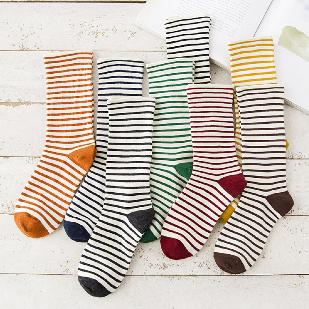 Okdeals 1Pair Cute Striped Socks