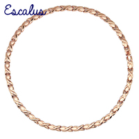 Escalus Choker Charm 316L Stainless Steel Necklace For Women Magnetic 31Pcs Magnets Jewelry Rose Gold Color Trinket Necklaces
