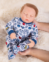 48CM Silicone Reborn Baby boy Doll Bathe Interactive toy Lifelike Newborn Babies DIY model Doll Bebe Reborn Bonecas Menina NPK