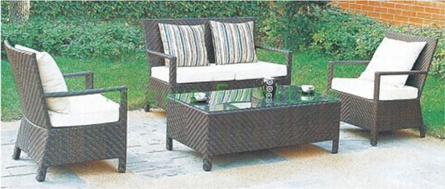 Rattan de exterior jardín sofá Patio conjunto de sofás muebles