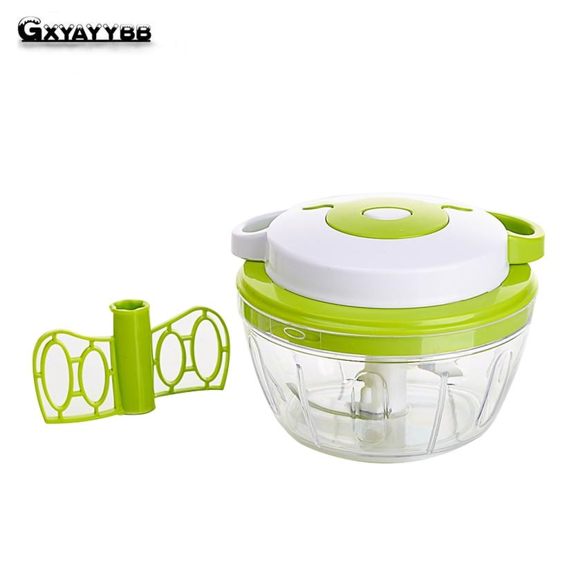 GXYAYYBB Manual Multifunction Food Chopper Shredder Processor Household Vegetable Meat Machine Manual Crusher Blender Juice