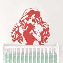 Creative little girl Wall Stickers Home Decor Girls Bedroom Sticker Nursery Decoration Mural Poster