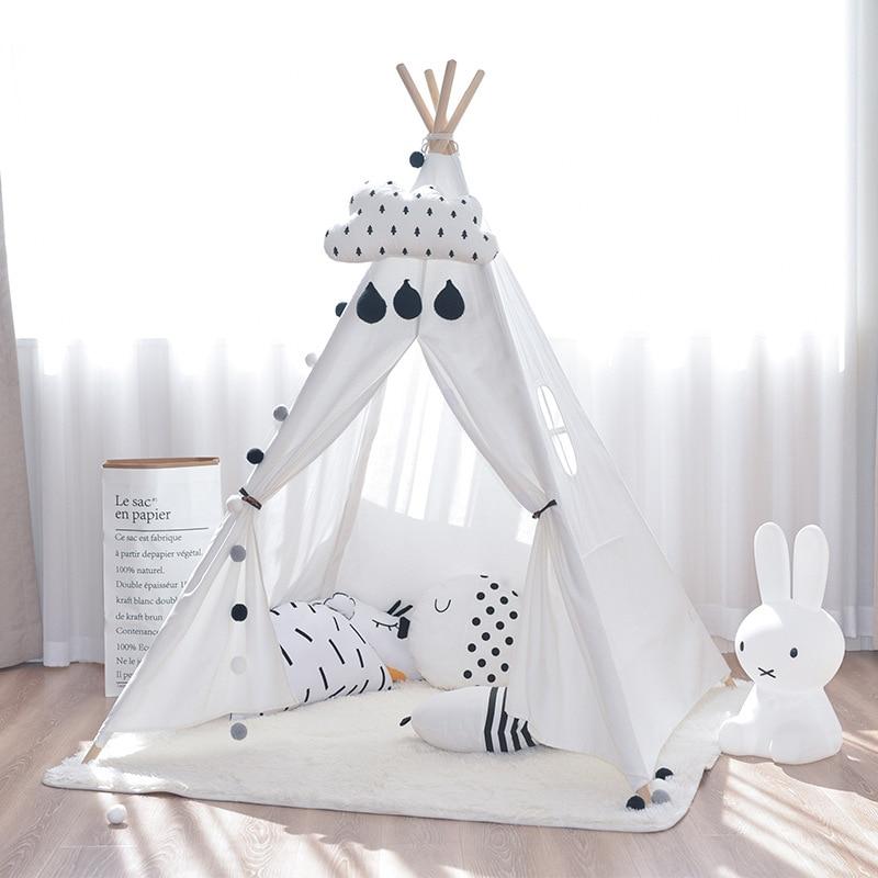 Tienda de lona Tipi niños tienda de campaña india princesa Casa de juego interior simulada Camping bebé habitación decoración regalo de cumpleaños