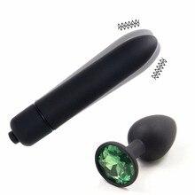 Anal Dildo Vibrator Butt Plug Crystal Jewelry Anal Plug Vagina Clitoris Stimulat