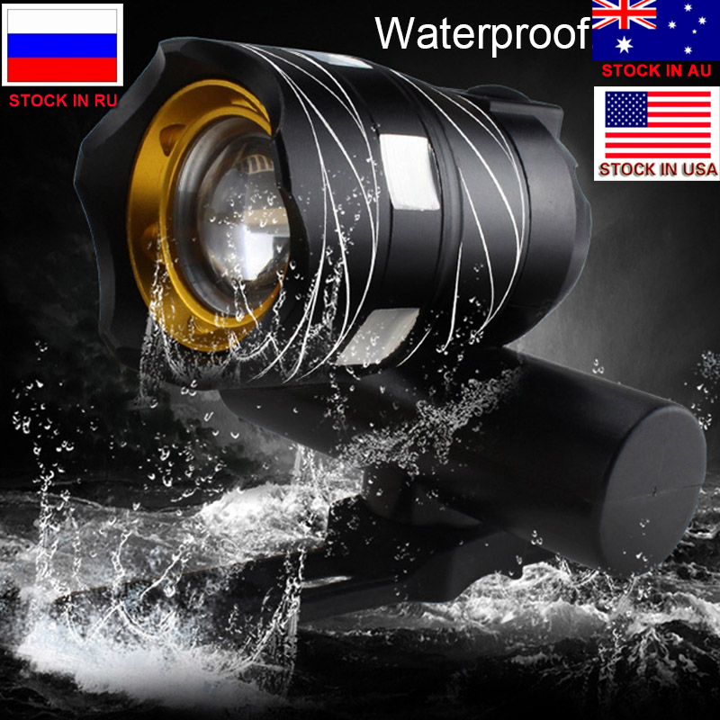ZK30 T6 LED Bicycle Light Bike Front Lamp Outdoor Zoomable Torch Headlight USB Rechargeable Built-in Battery 15000LM newboler 7000lumen xm l t6 led bike light usb bicycle lights rechargeable lamp torch flashlight cycling accessories