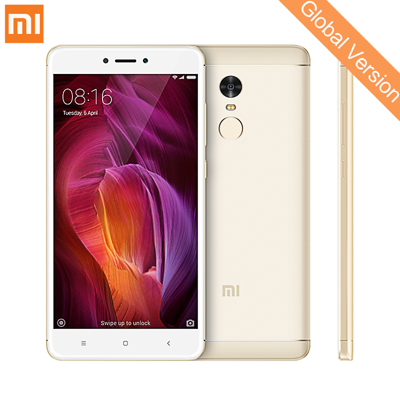 Globale Version Xiaomi Redmi Hinweis 4 Qualcom 4 gb 64 gb Handys Snapdragon 625 13.0MP Fingerprint ID 5,5