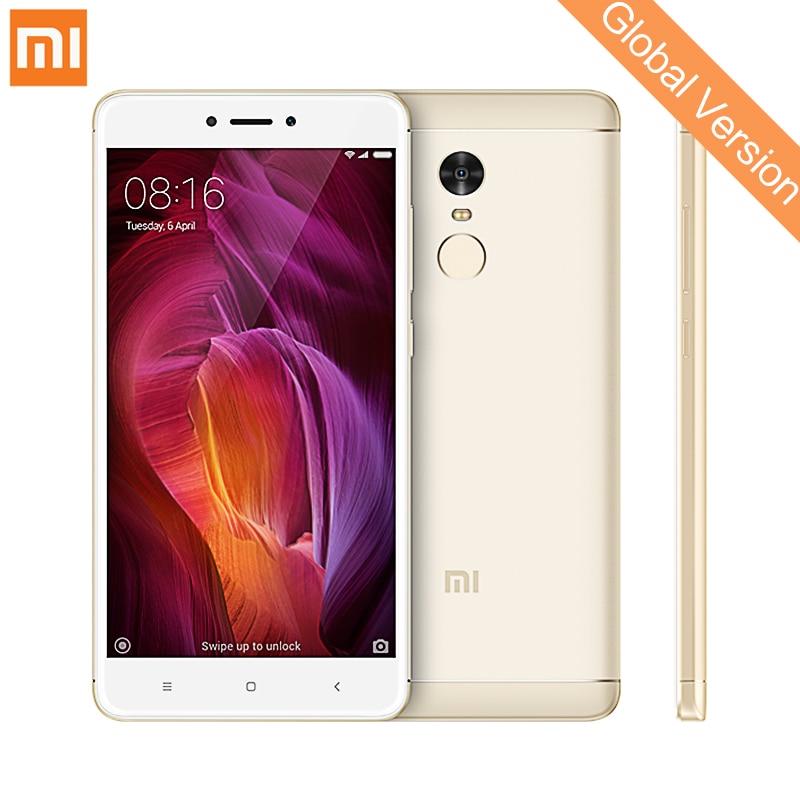 Mondial Version Xiaomi Redmi Note 4 Qualcom 4 gb 64 gb Mobile Téléphones Snapdragon 625 13.0MP D'empreintes Digitales ID 5.5 1080 p MIUI 9 CE OTA