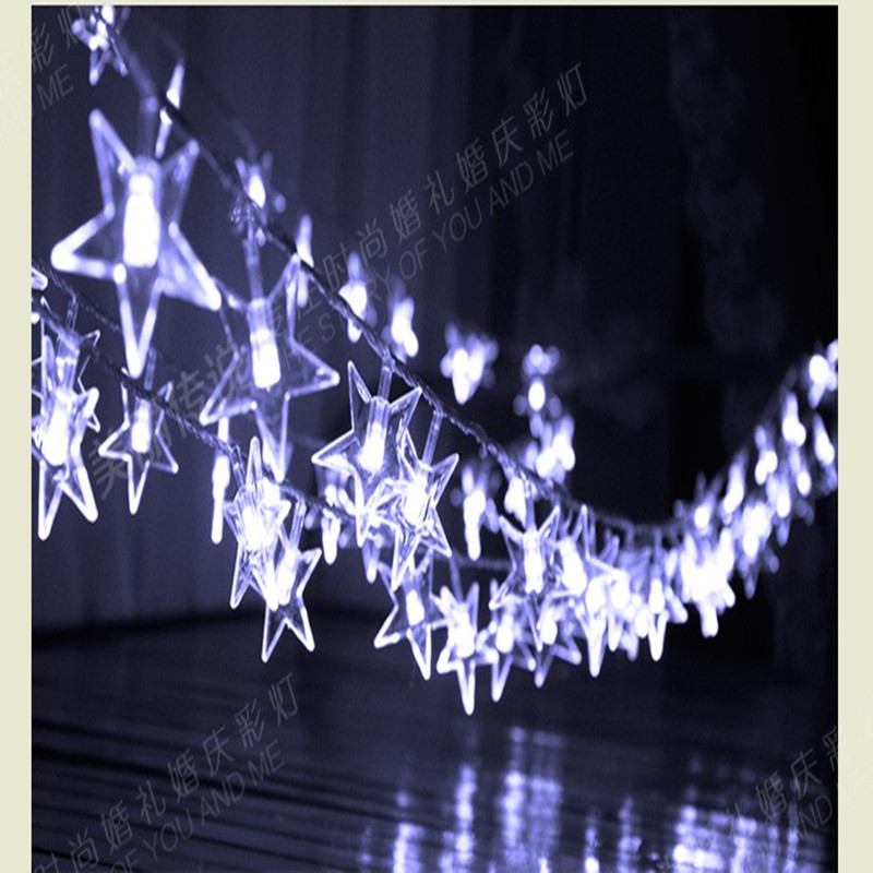 3m LED Battery Operated star Holiday lighting string garland fairy wedding party indoor outdoor Christmas luminaria decoration 10m battery operated fairy lights led string garland curtain lamp for wedding indoor holiday lighting christmas tree luminaria