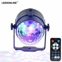Holiday Lighting 3W Mini RGB Crystal Magic Ball Led Stage Lights DJ KTV Disco Party Lamp