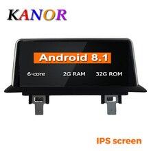KANOR 10,25 «ips экран 6 Core 2 Гб + 32 ГБ, Android 8,1 Автомобильный gps навигатор Мультимедиа плейер для BMW E87 2006-2012 с Idrive