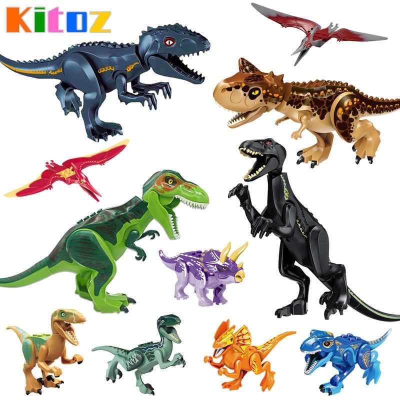 Dinosaur Building Block Toy Figure T-Rex Carnotaurus Triceratops Indoraptor