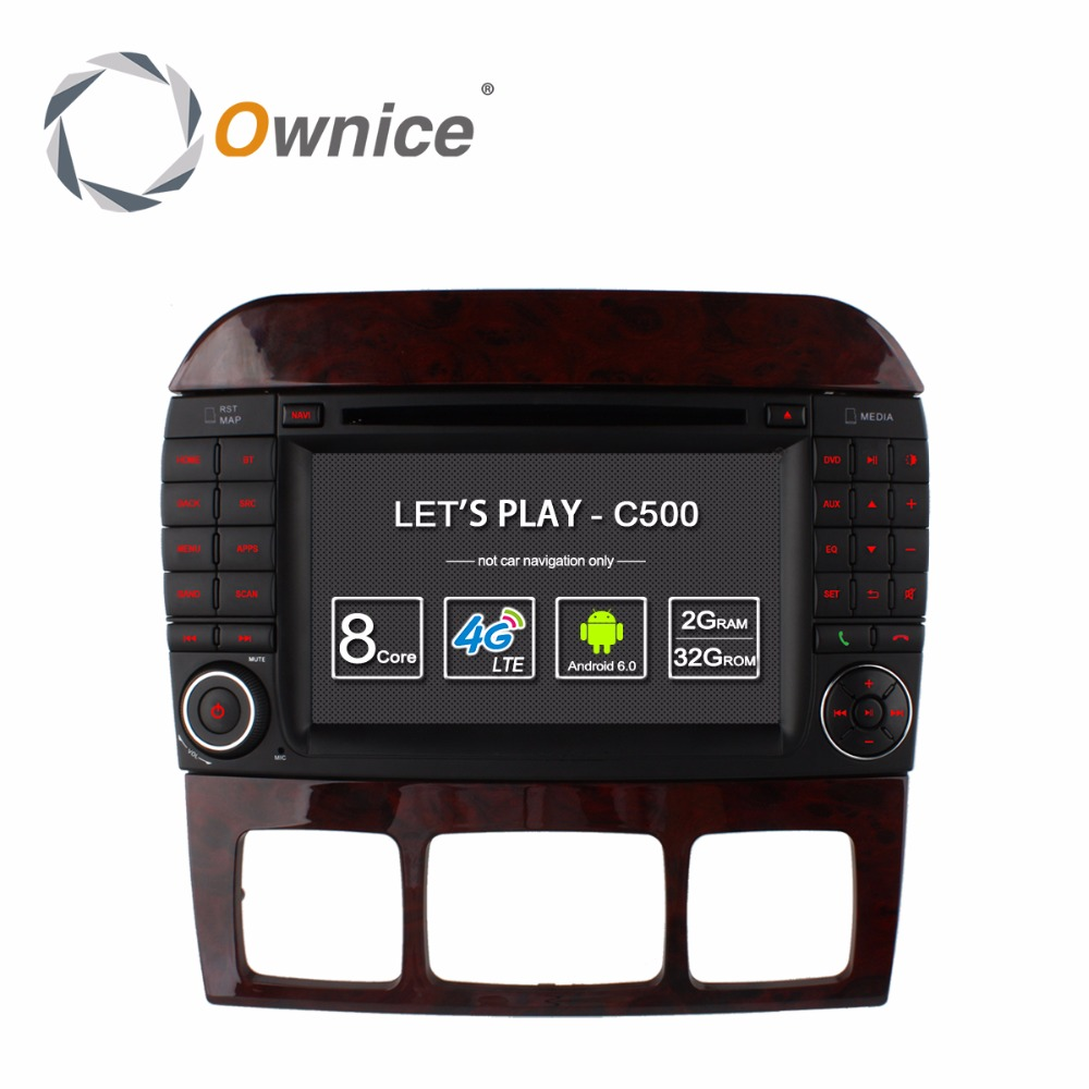 4G SIM LTE Android 6.0 Octa Core 2GB RAM Car DVD Player for Mercedes Benz S CL Class W220 W215 S280 S320 S430 S500 GPS Radio ownice c500 4g sim lte octa 8 core android 6 0 for kia ceed 2013 2015 car dvd player gps navi radio wifi 4g bt 2gb ram 32g rom