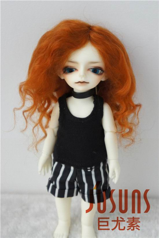 JD039 4-5inch Mohair doll wigs 1/12 11-13CM Long wave BJD doll hair ...