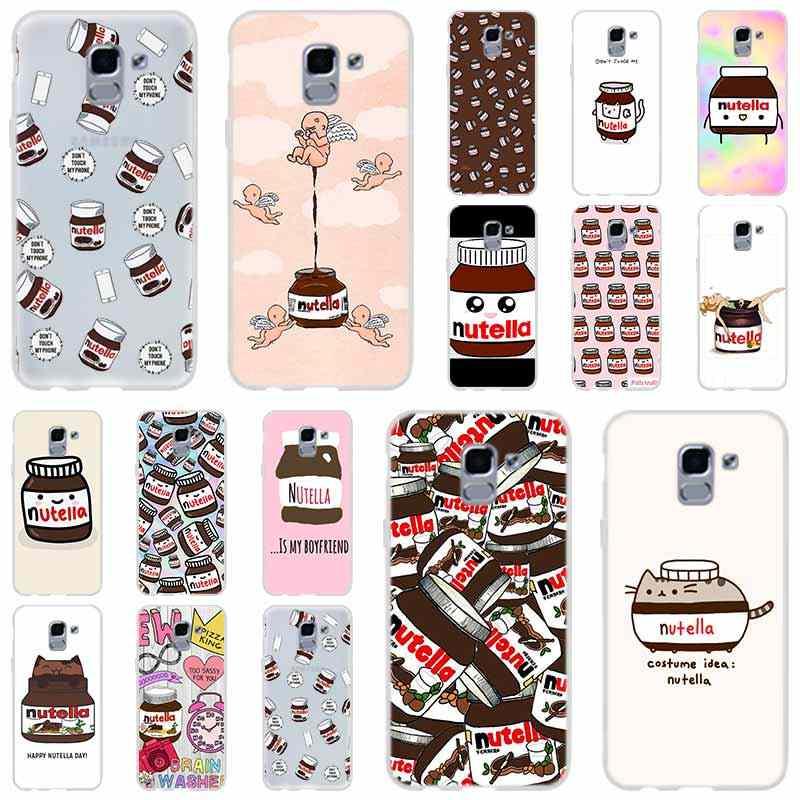 chocolate Food Tumblr Nutella For Phone Case Samsung Galaxy j6 J8 J7 J5 J3 J4 Plus 2018 2017 2016 J610 Prime Soft Silicone Coque
