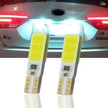 2 x t10 w5w placa de matrícula luz lâmpadas led lâmpada para kia k2 k3 k4 k5 rio forte carens carnaval sorento borrego