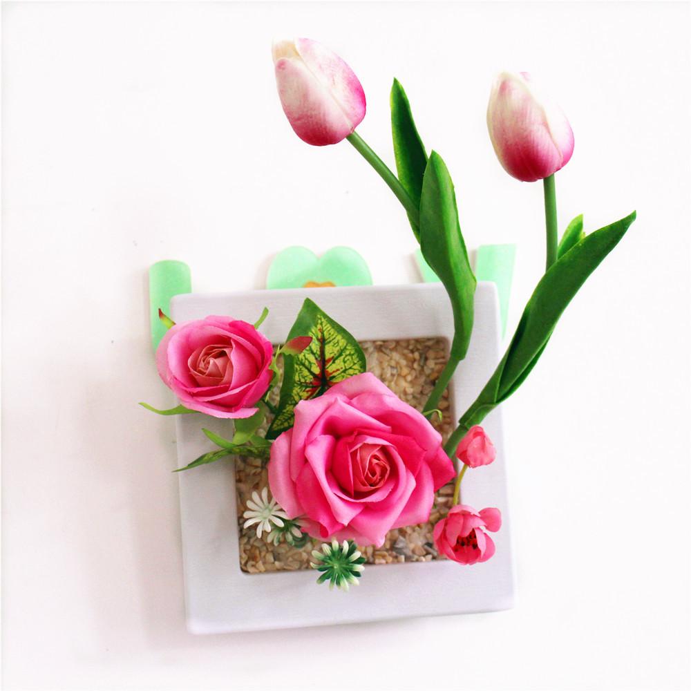 produk  Buatan Bunga Hiasan Dinding bahan  bunga plastik warna  hijau 322372ab32