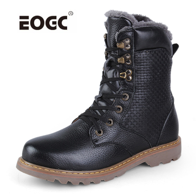 Handmade Men Winter Boots Male Ankle Boots Waterproof Warm Fur Snow Boots Shoes Men Chaussure Homme цены онлайн