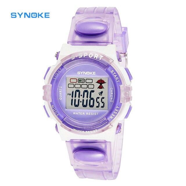 SYNOKE Kids Sports Watch LED Rubber Digital Watch Wristwatch Boys or Girls Wrist