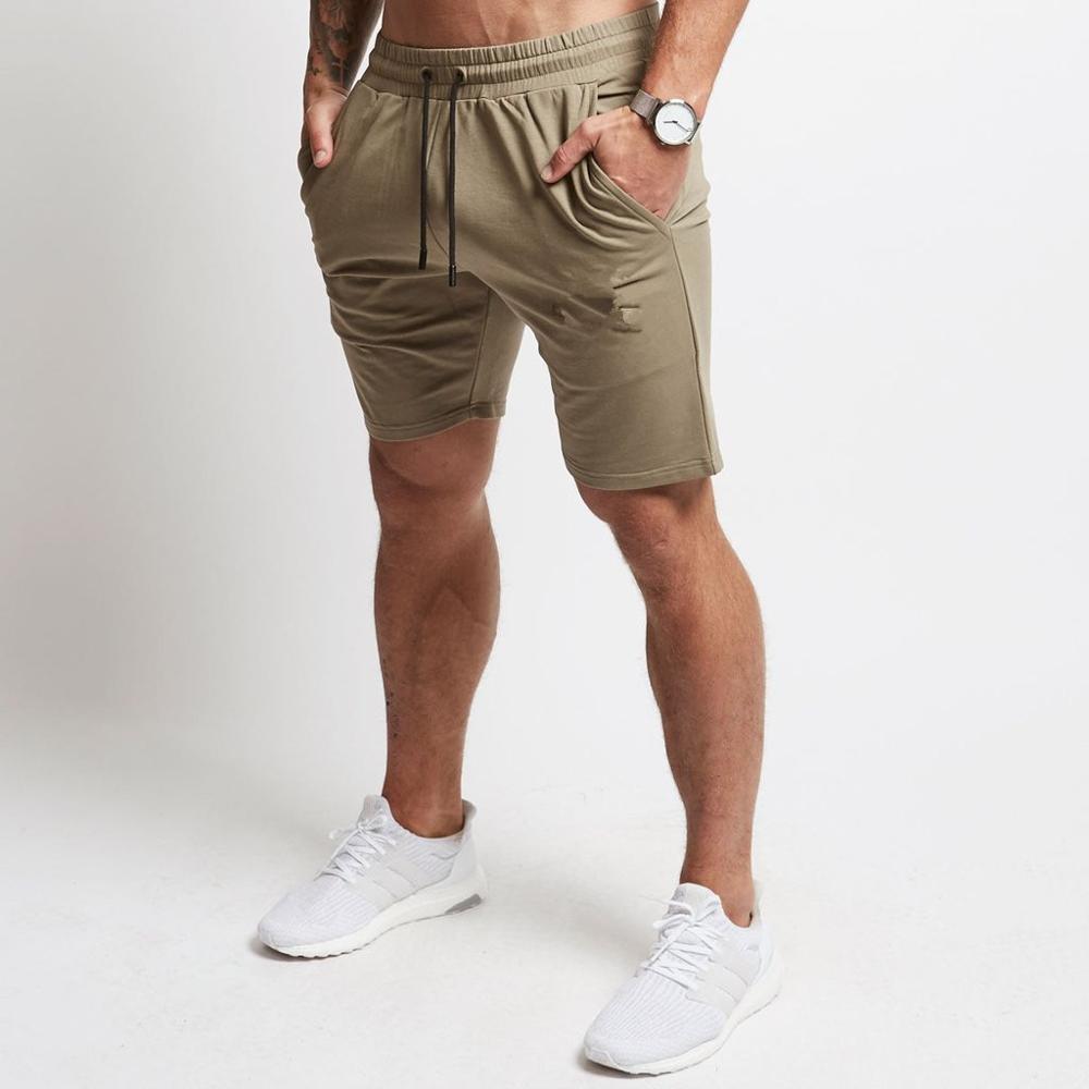 Summer Mens Slim Brand Shorts Calf-Length Fitness Bodybuilding Fashion Casual Gyms Jogger Workout Beach Short Pants Sportswear