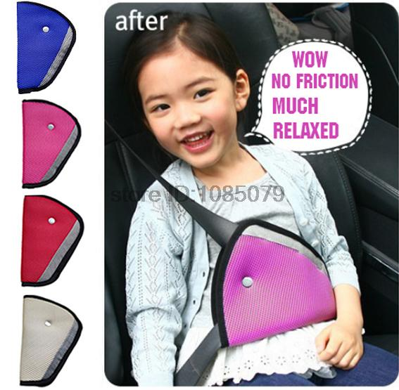 Kids Safety Cover Harness Strap Adjuster Pad Triangle Car Seat Belt Clip Newest