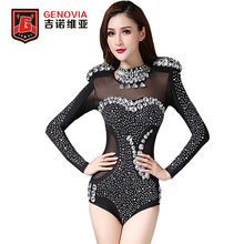 2017 Women Bodysuit Bottoming Shirt Belly Dance Tops Modern Steel Pipe Jazz Costume