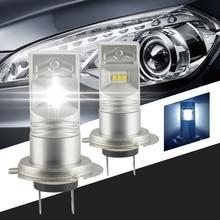 2x car styling 6000-6500K 80W 1600 Lumens Lumileds Luxeon 6 CSP H7 LED Car Bulbs for DRL/Fog Lights/ Dipped Driving Bulbs